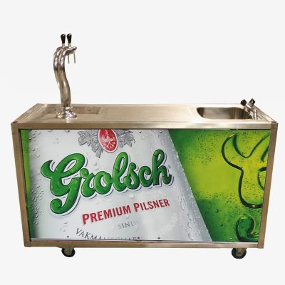 Taprolley grolsch branded beplating