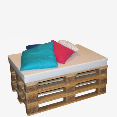 Loungeblok van pallets incl. kussens