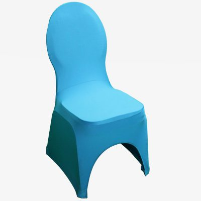 Blauwe stretchhoes voor de gestoffeerde stoel
