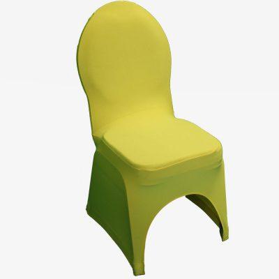 Gele stretchhoes voor de gestoffeerde stoel