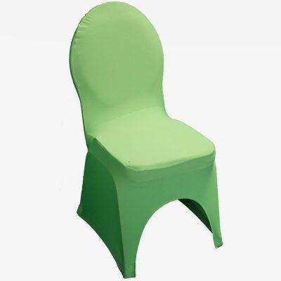 Groene stretchhoes voor de gestoffeerde stoel