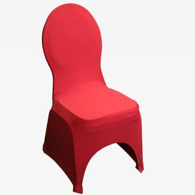 Rode stretchhoes voor de gestoffeerde stoel