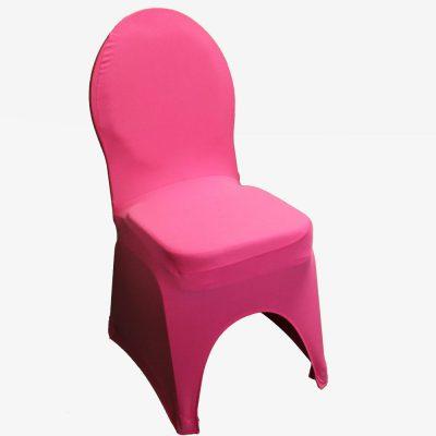 Roze stretchhoes voor de gestoffeerde stoel