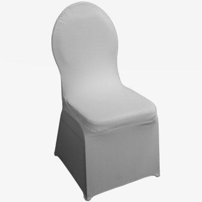 Witte stretchhoes voor de gestoffeerde stoel