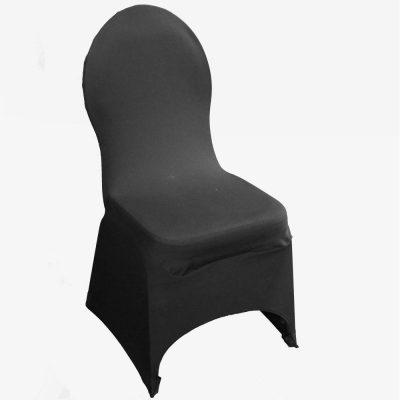 Zwarte stretchhoes voor de gestoffeerde stoel