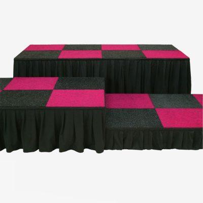 Zwarte podium rok
